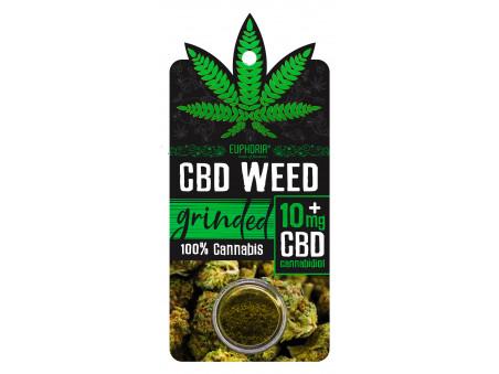 CBD konopí -  CBD weed Grinded - outdoor - 0,7 - 1 gram - EUPHORIA